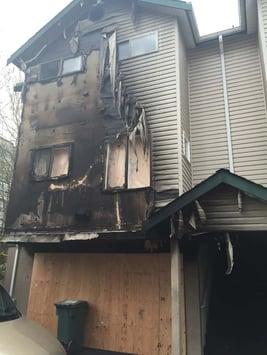 burnt property, burned house, resident insurance