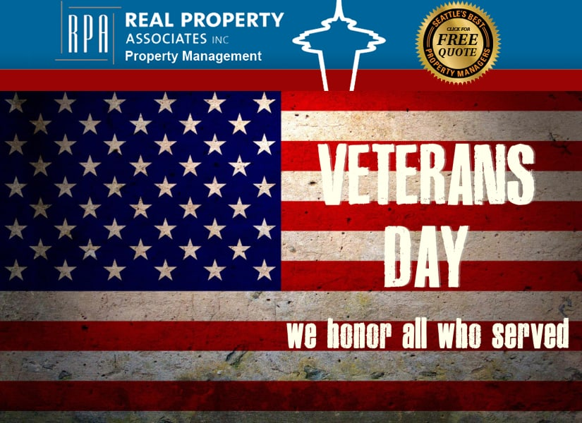 Best Property Management in Seattle, Veterans day