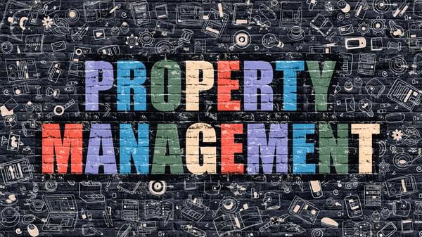Property Management in Multicolor doodle design