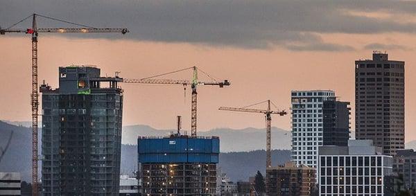building construction, skyscraper, Seattle apartments